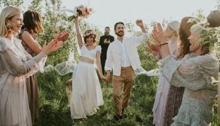 suknia ślubna w stylu boho anna maria sieklucka