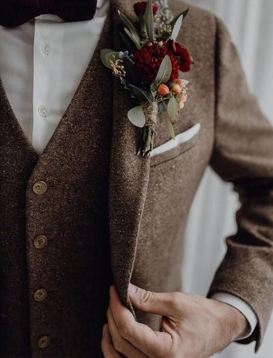 pan młody garnitur retro vintage