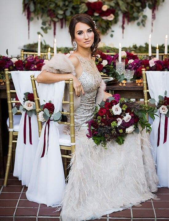 wiązanka ślubna, kwiaty vintage, retro