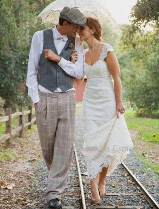para młoda - ślub vintage retro
