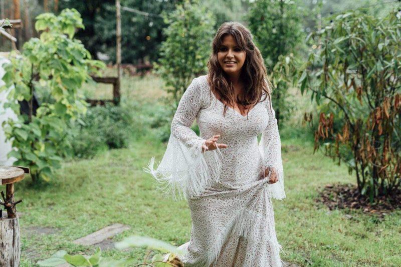 Suknia ślubna w stylu boho Porto 46 Plus Size.