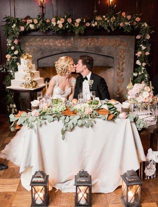 ślub w stylu rustykalnym dekoracje, para młoda