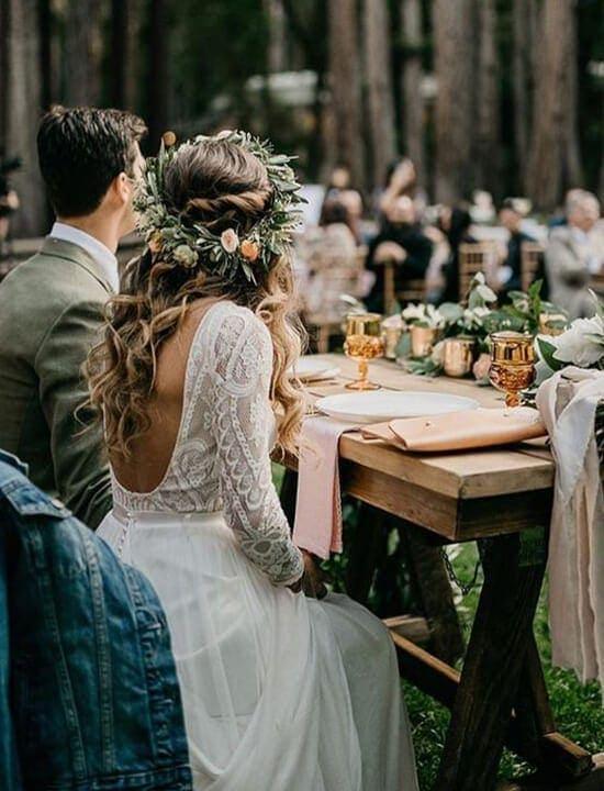 ślub w stylu boho - para młoda