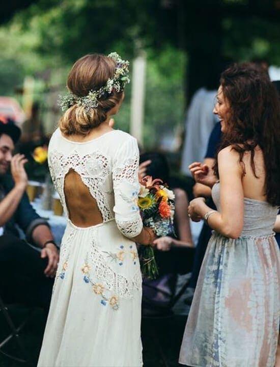 para młoda - suknia ślubna w stylu boho