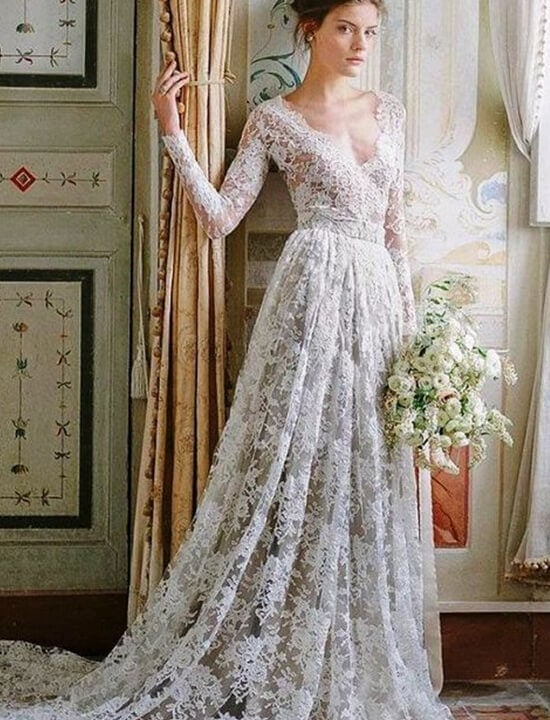 suknia śłubna w stylu vintage retro