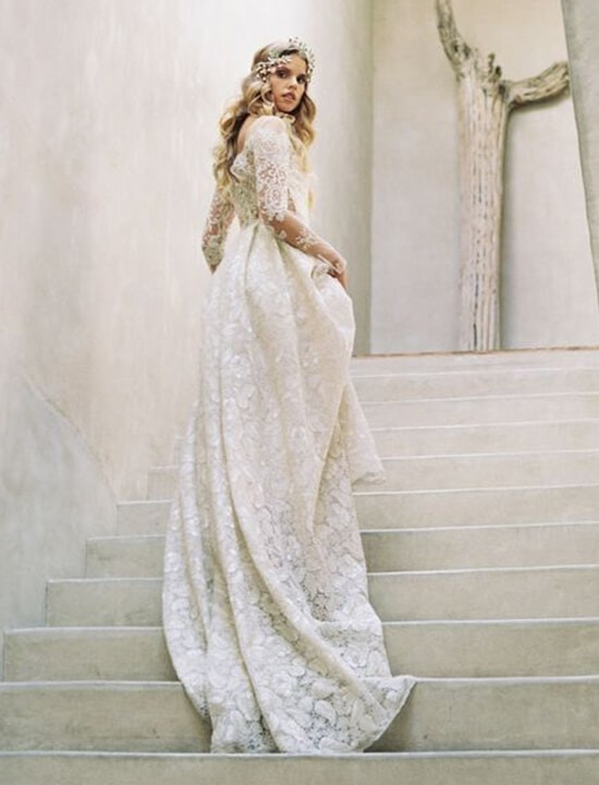 boho suknia ślubna