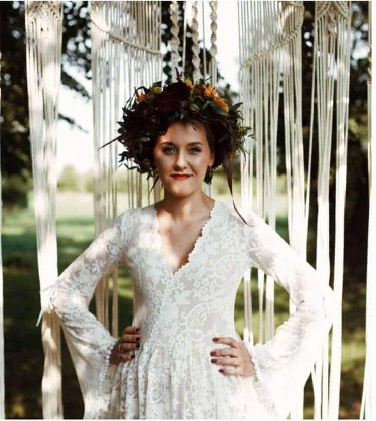 Suknia ślubna w stylu boho Porto 17 bez tiulu.