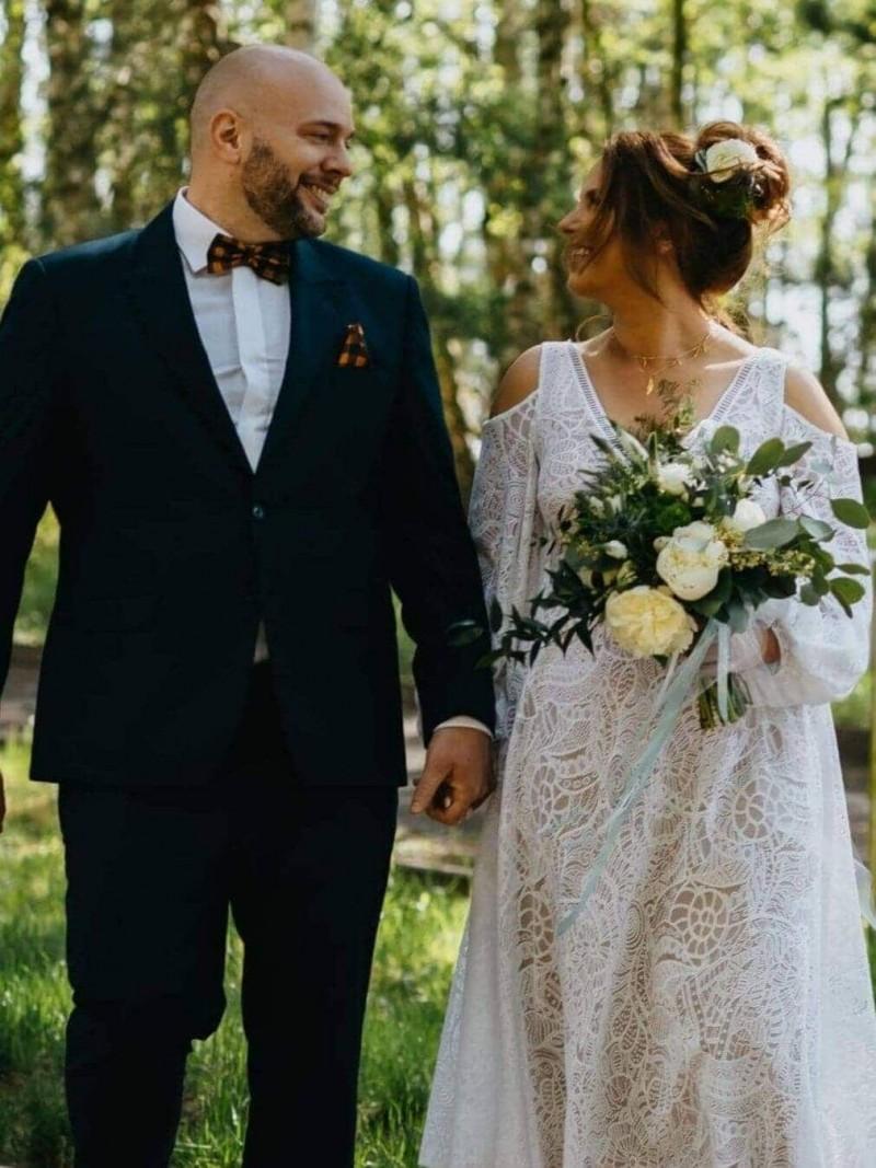 Suknia ślubna w stylu boho Santorini 13.