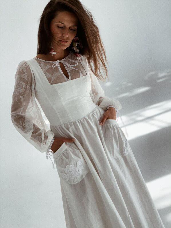 suknia ślubna gładka