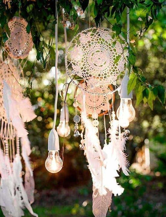 dekoracje ślubne boho łapacz snów