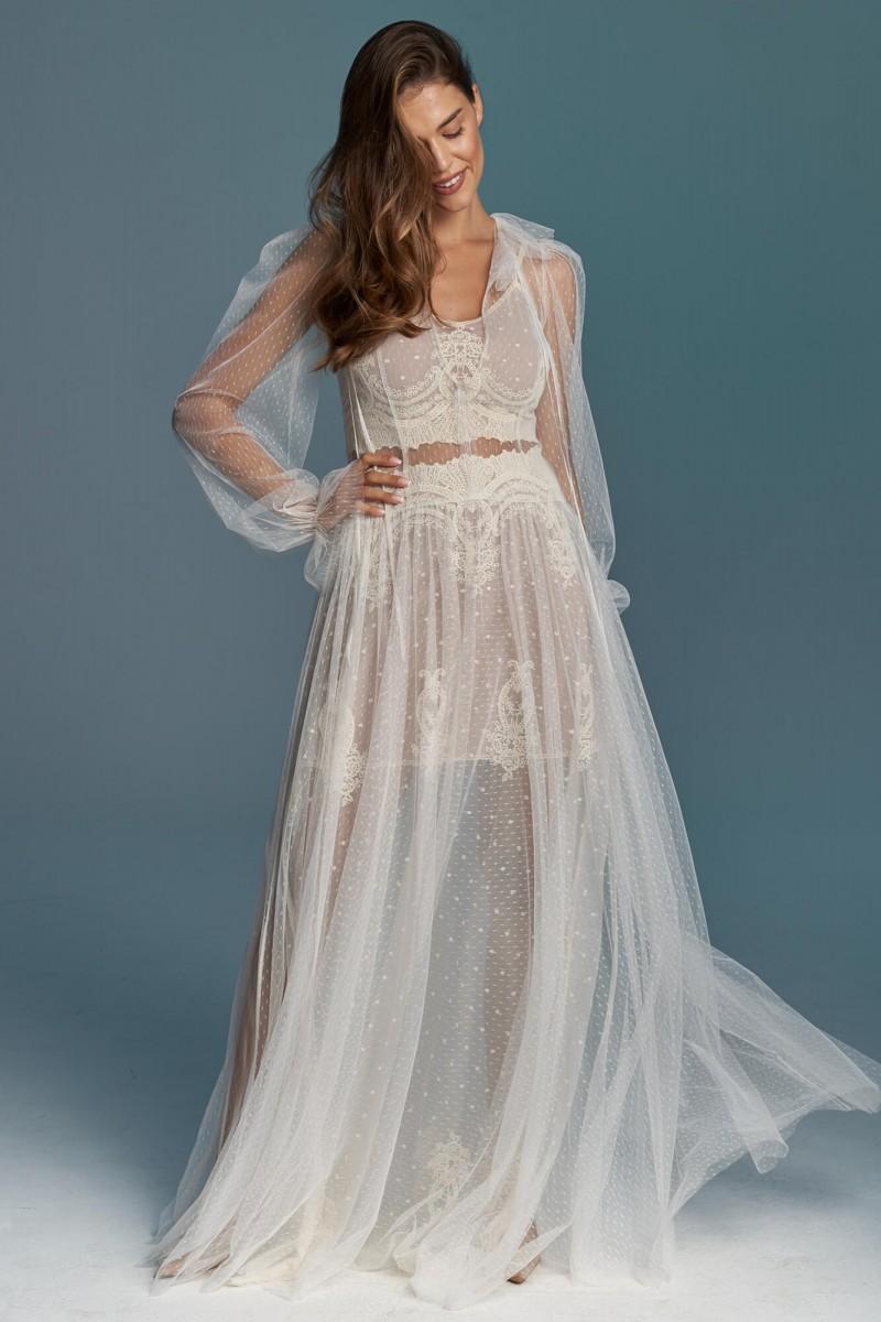 Dwuczęściowa retro suknia ślubna