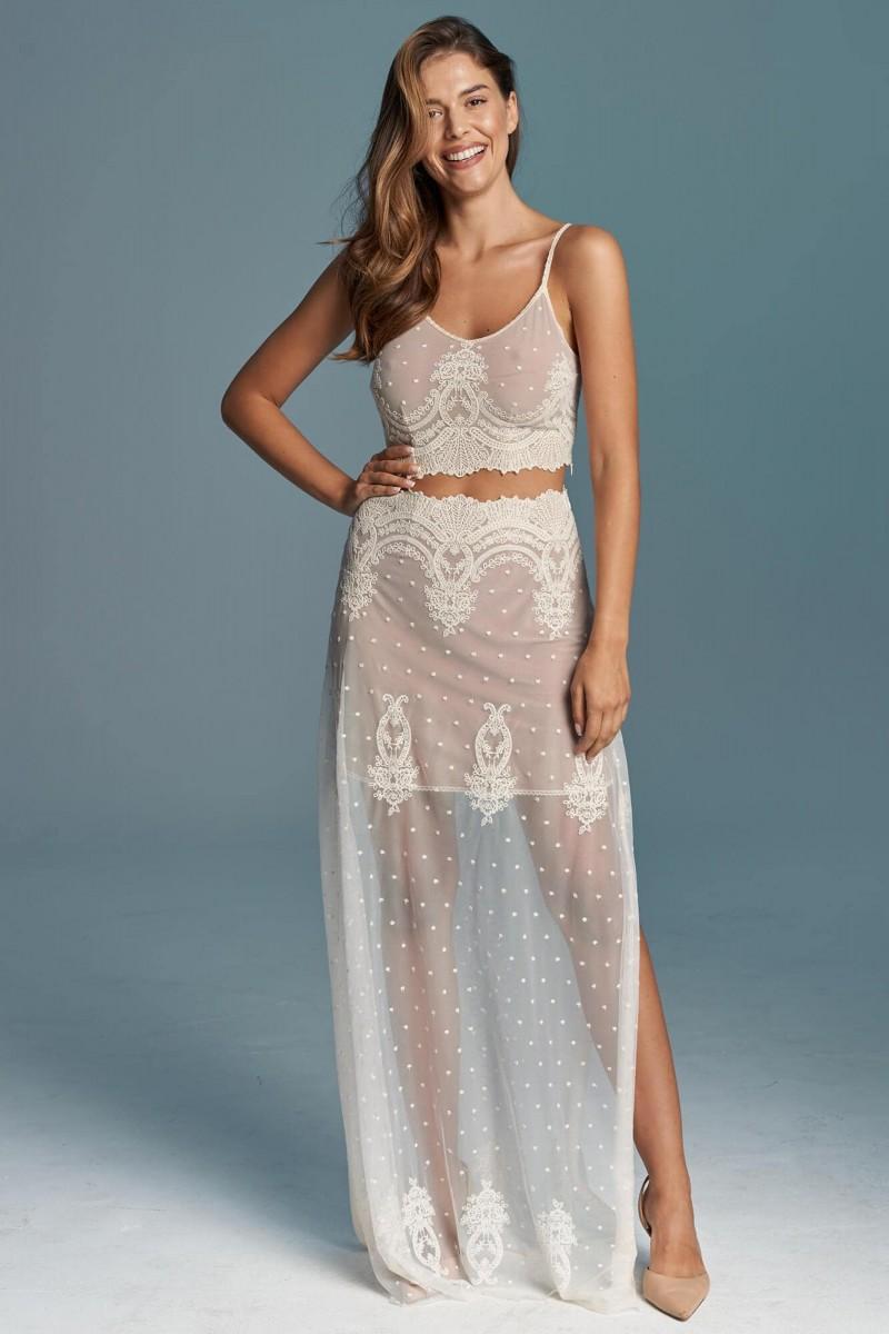 Dwuczęściowa suknia ślubna