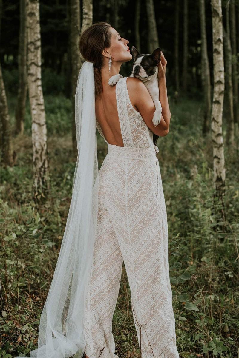 Kombinezon boho na ślub cywilny
