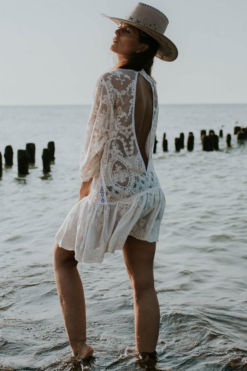Krótka sukienka boho
