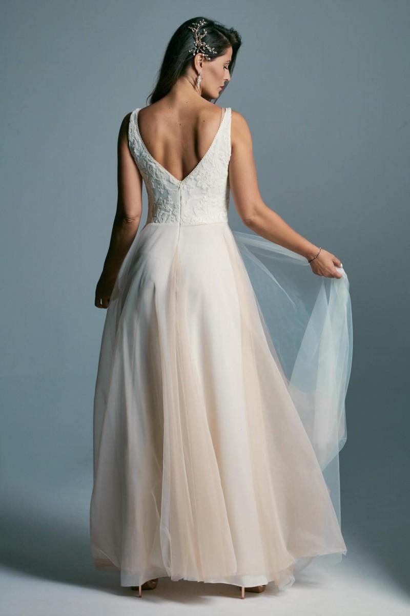 Suknia ślubna ecru, beżowa