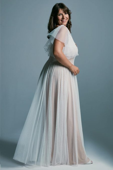 Suknia ślubna plus size z tiulem