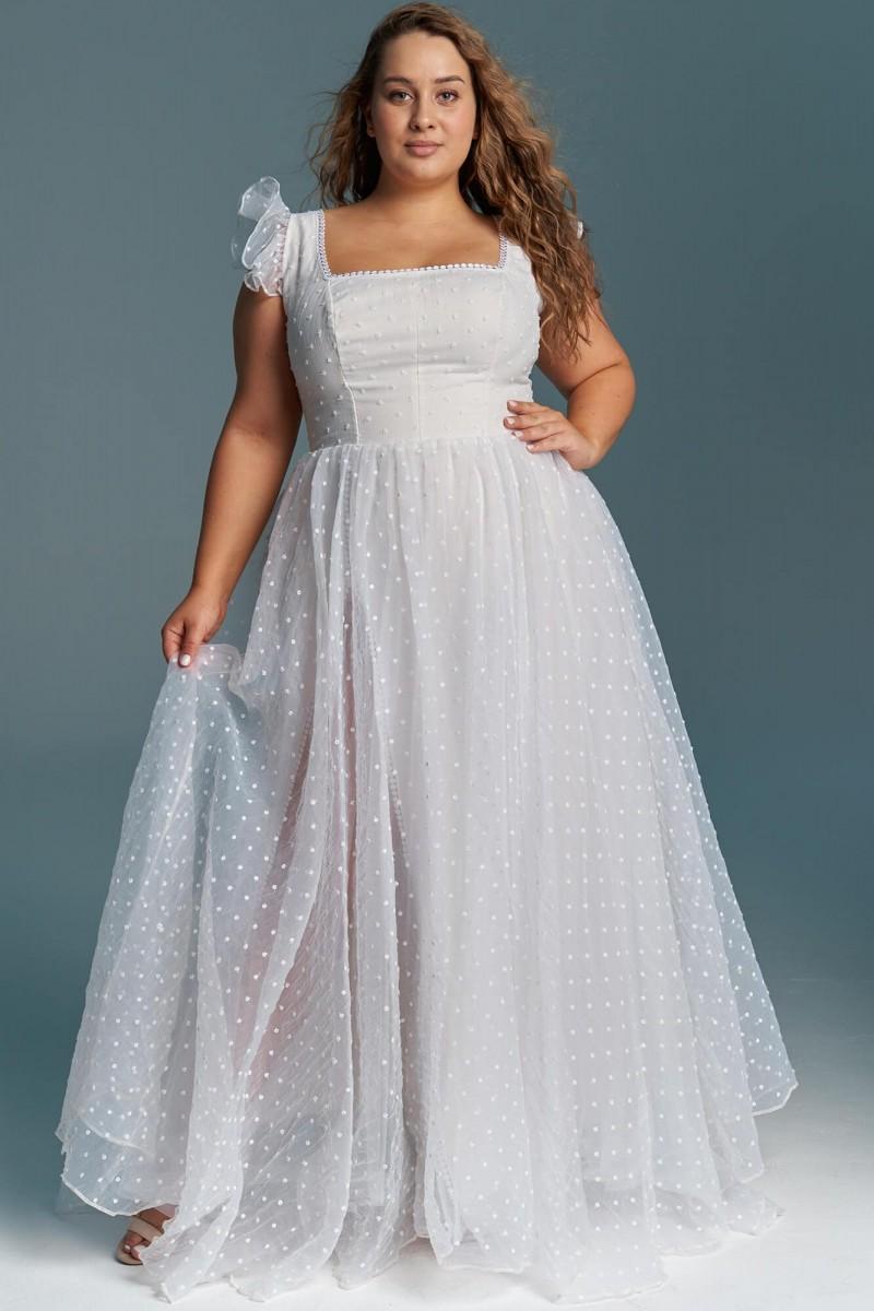 Suknia ślubna z organtyny