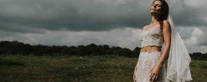 suknia ślubna boho dwuczęściowa