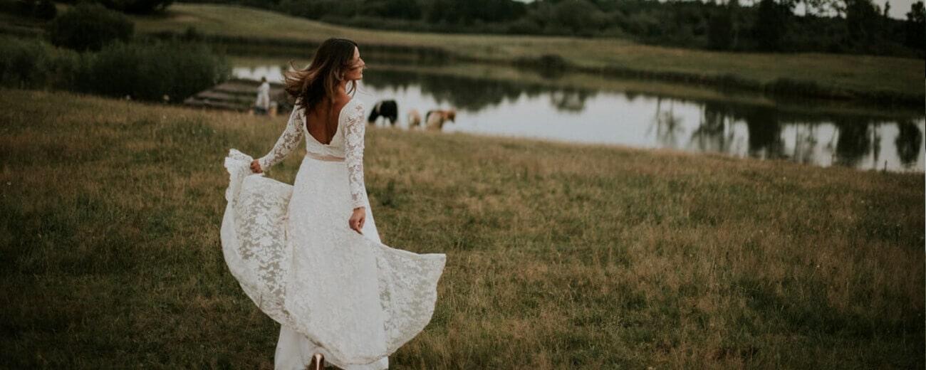 suknia ślubna boho