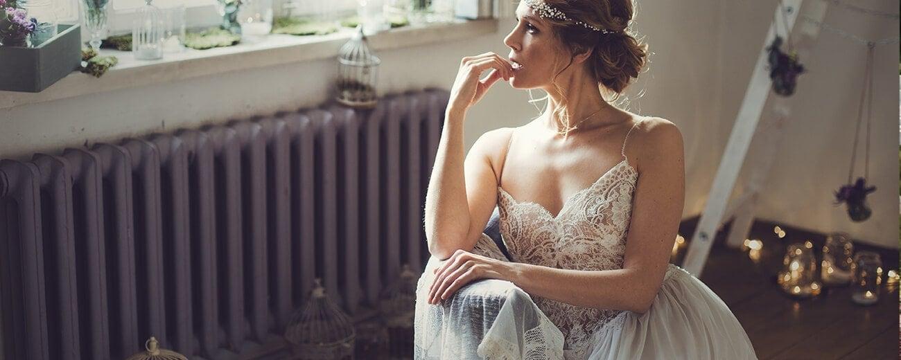 piękna suknia ślubna boho