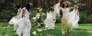 panna młoda, druchny suknia ślubna boho