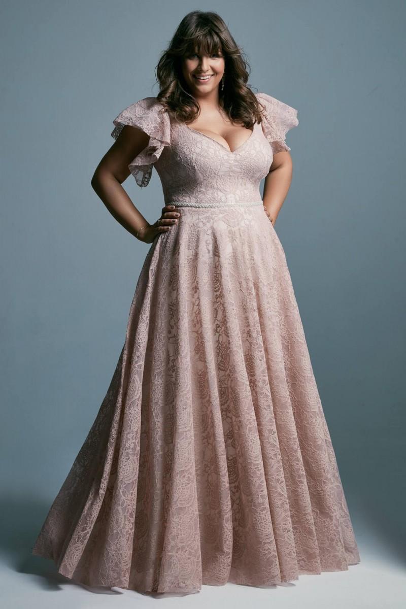 Miękka, zwiewna suknia ślubna plus size