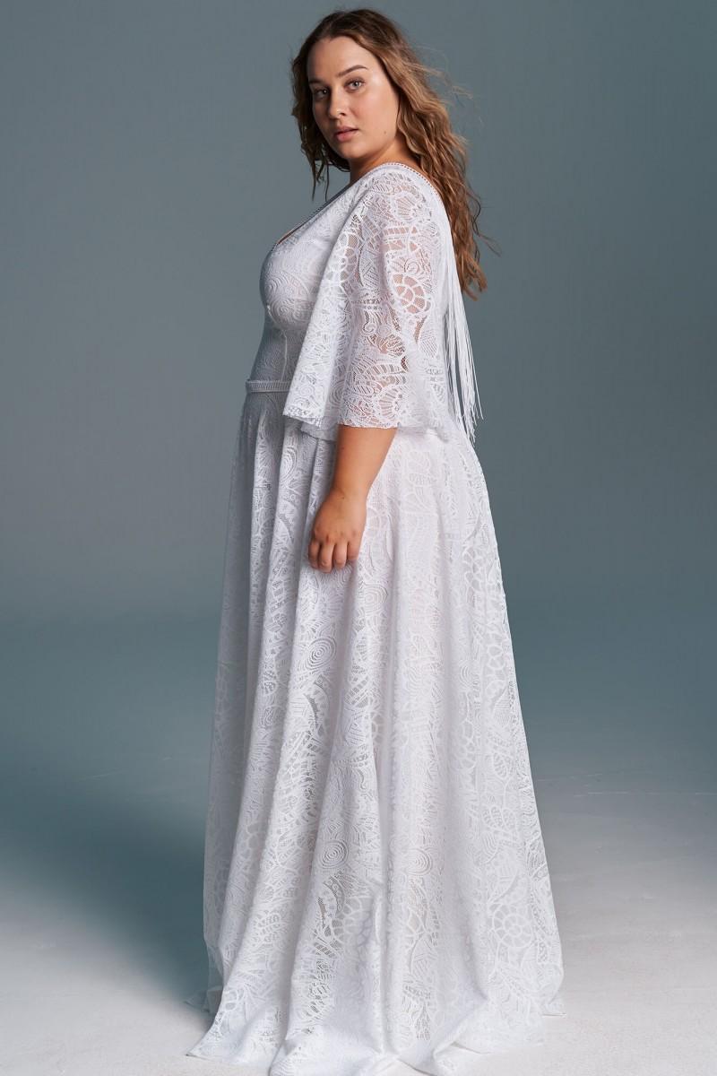 Elegancka, swobodna suknia ślubna