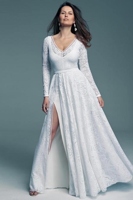 Suknia ślubna z frędzlami dla miłośniczek boho