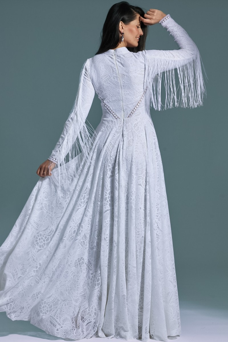 Konserwatywna suknia ślubna