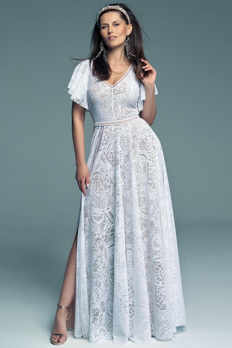 Suknia ślubna i jej piękne rękawy motylki