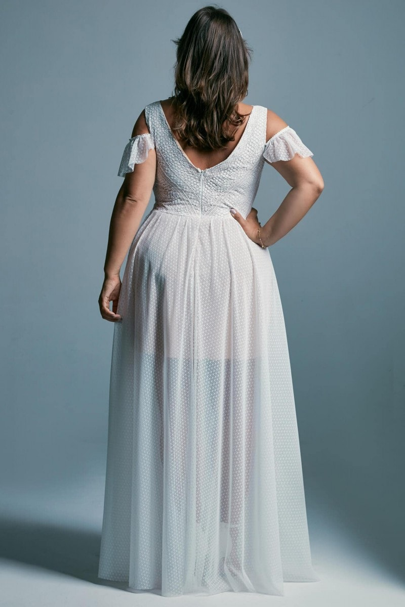 Suknia ślubna plus size w stylu greckim