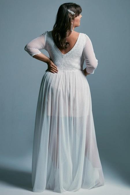 Suknia ślubna plus size z dzianiny