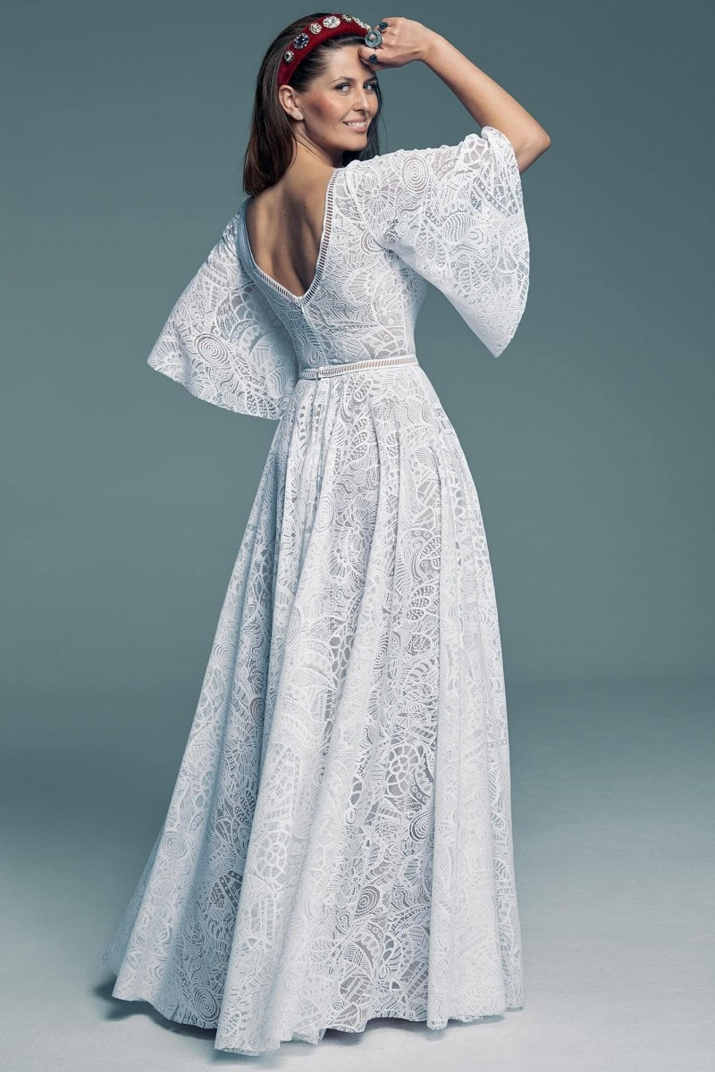 Suknia ślubna - rękaw 3/4. Idealny kompromis