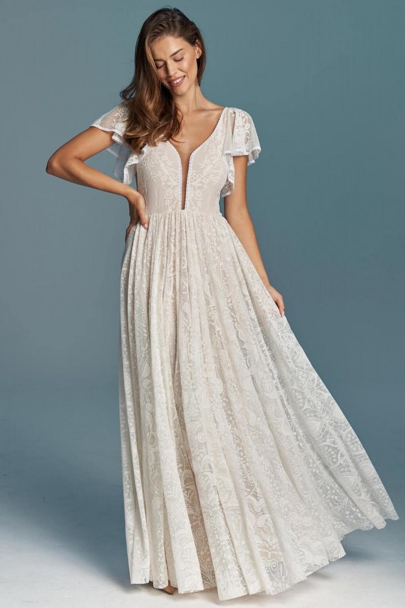 Biała klasyczna suknia ślubna