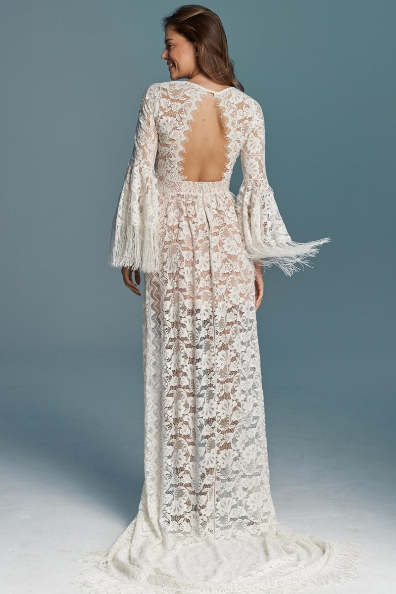 Boho sukienka ślubna