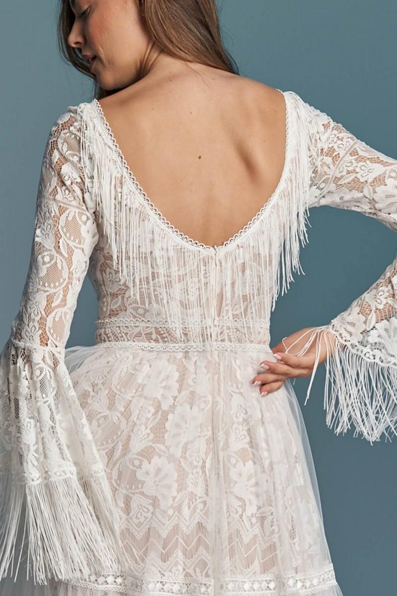 Boho suknia ślubna z nutką klasyki