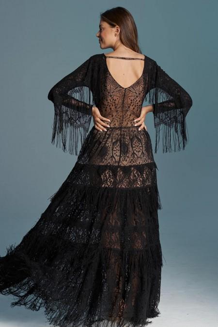Czarna sukienka ślubna