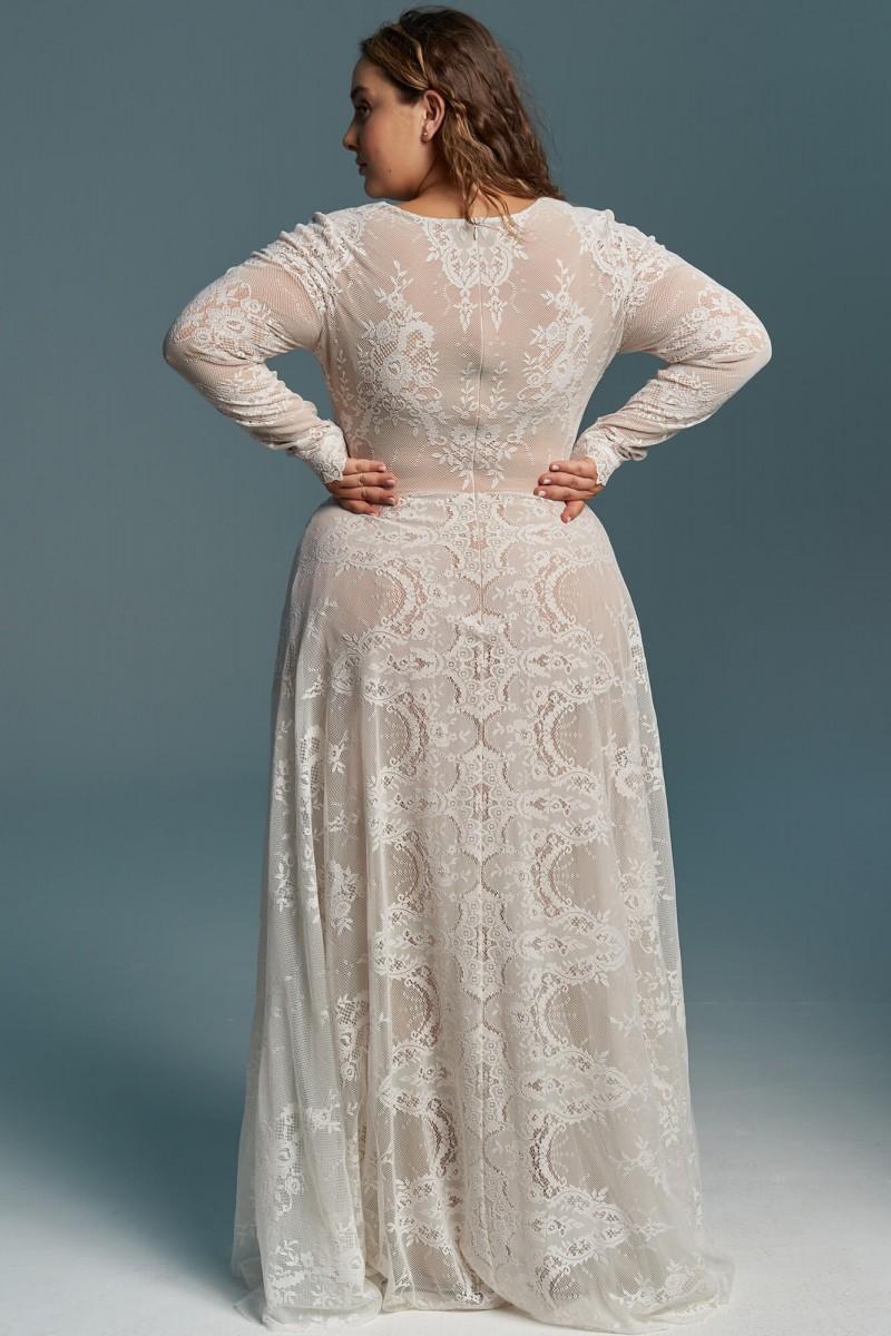 Skromna, zabudowana suknia ślubna