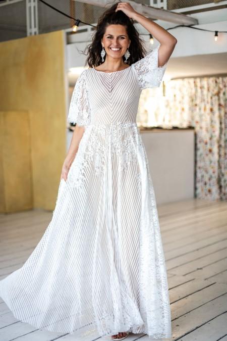 Suknia ślubna optycznie wyszczuplająca talię Paris 14