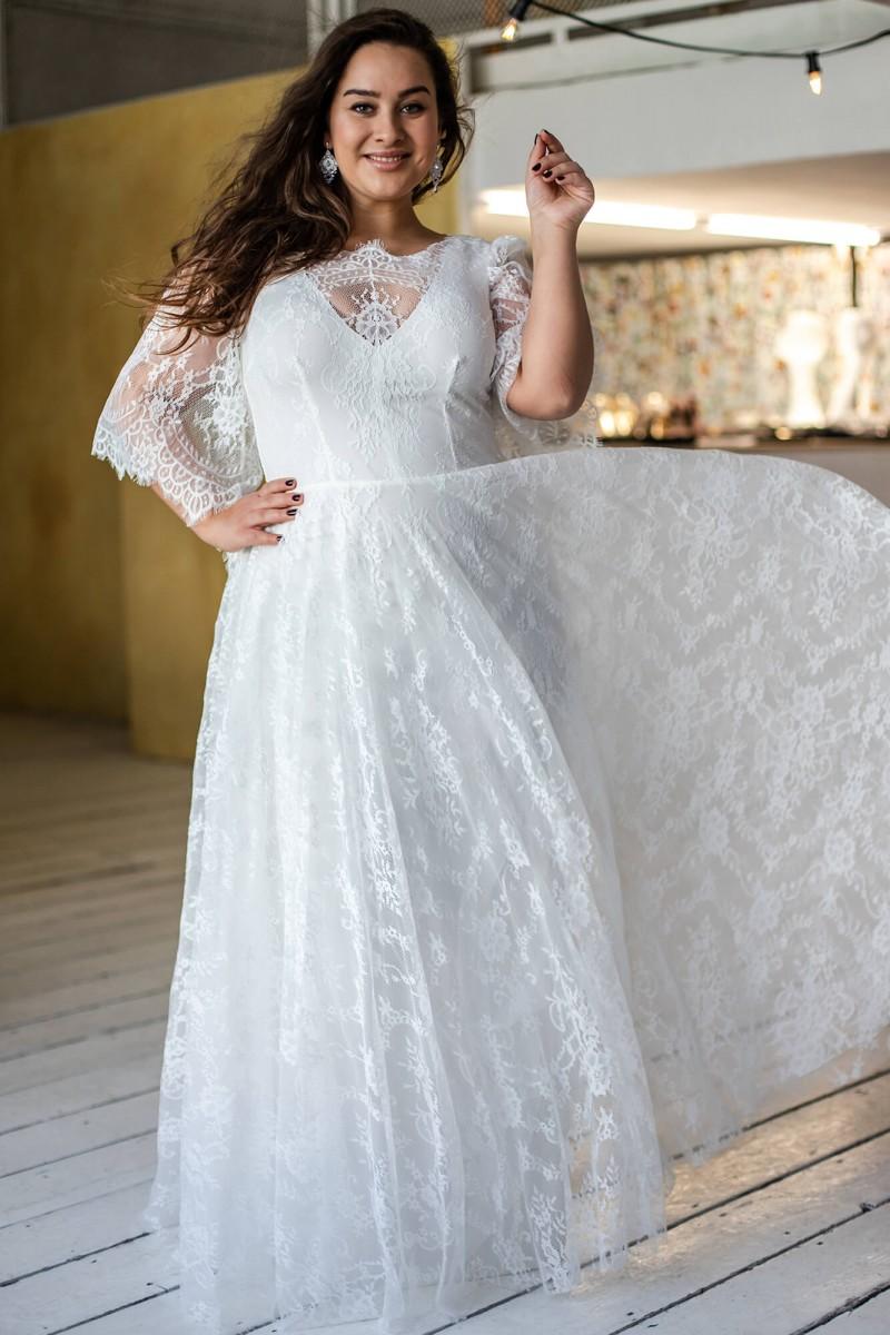 Suknia ślubna plus size wysmuklająca plecy Paris 3