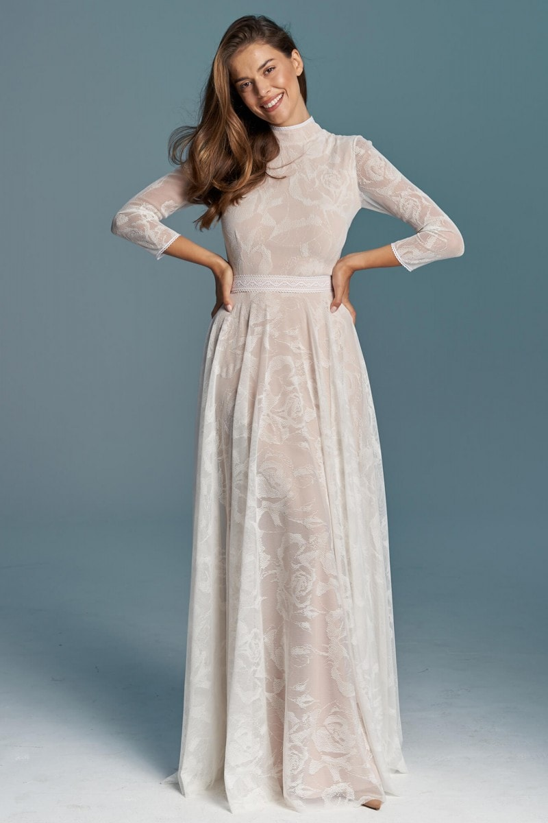 Suknia ślubna wiktoriańska