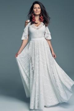 Suknia ślubna z pięknie odkrytymi ramionami
