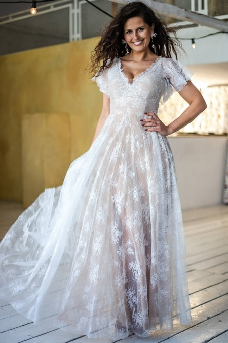 Ultraromantyczna suknia ślubna na sielski ślub Paris 2
