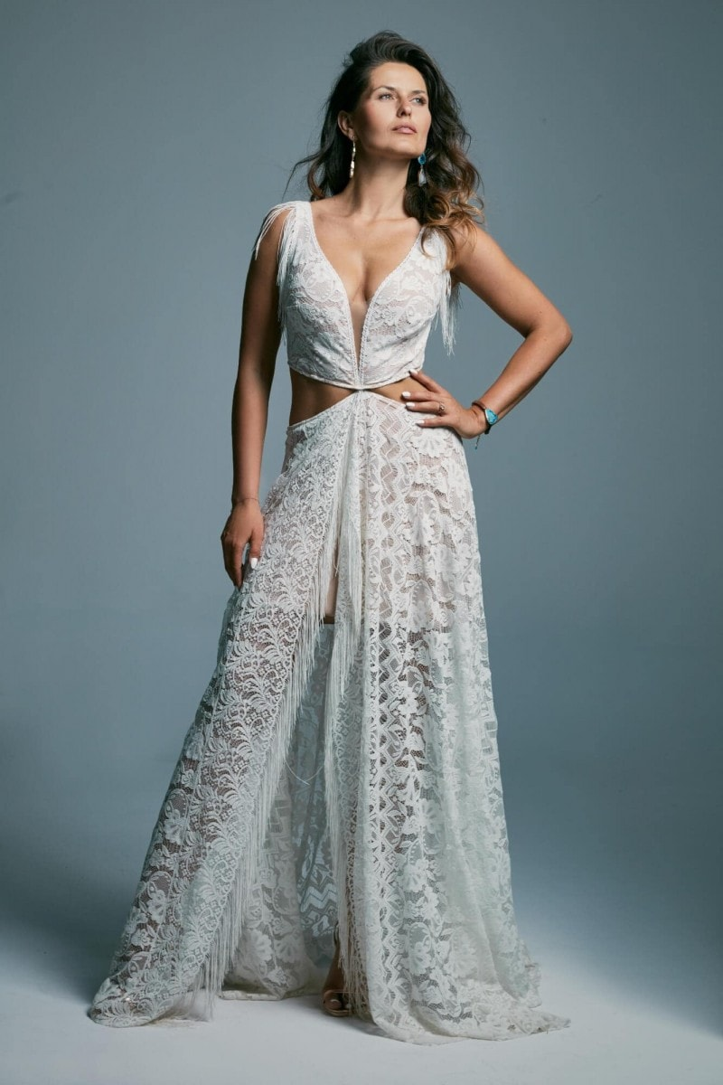 Ekstrawagancka suknia ślubna