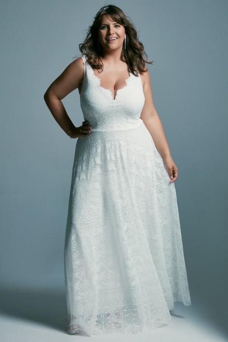 Suknia ślubna plus size glamour
