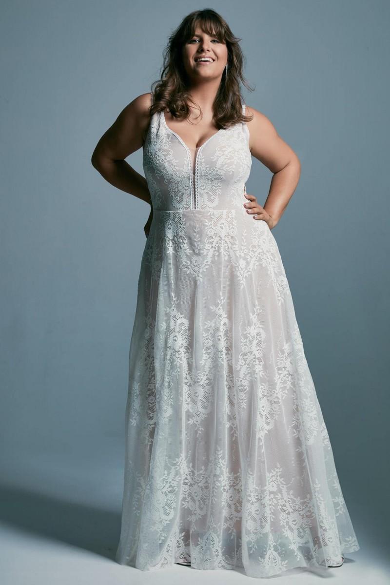 Suknia ślubna plus size wyszczuplająca