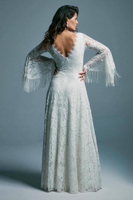 Suknia ślubna bez dekoltu